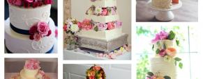 As flores naturais e a pastelaria