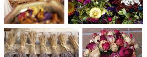 As flores secas na decoração
