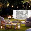 Transforme o seu jardim numa sala de cinema
