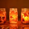 O lado mais decorativo das folhas secas do outono
