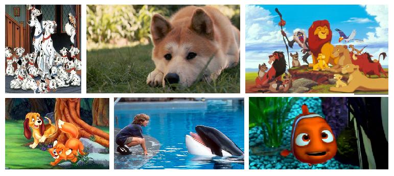 animais de filmes